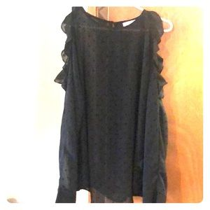Sophie rue size LG black long sleeve cold shoulder